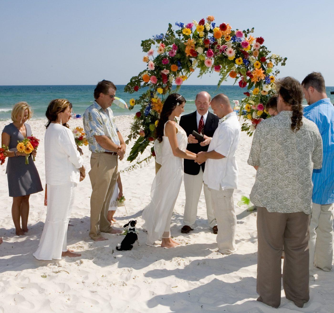 Lovely beach wedding