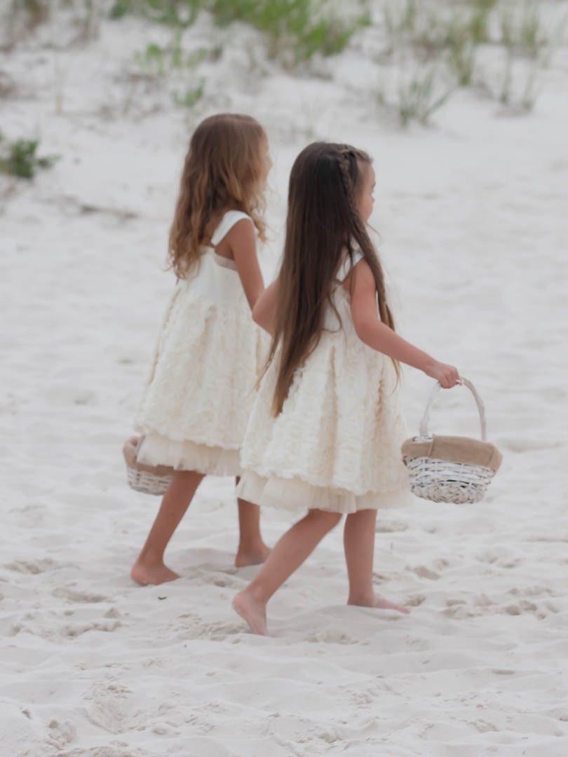 Flower Girls at Beach Wedding