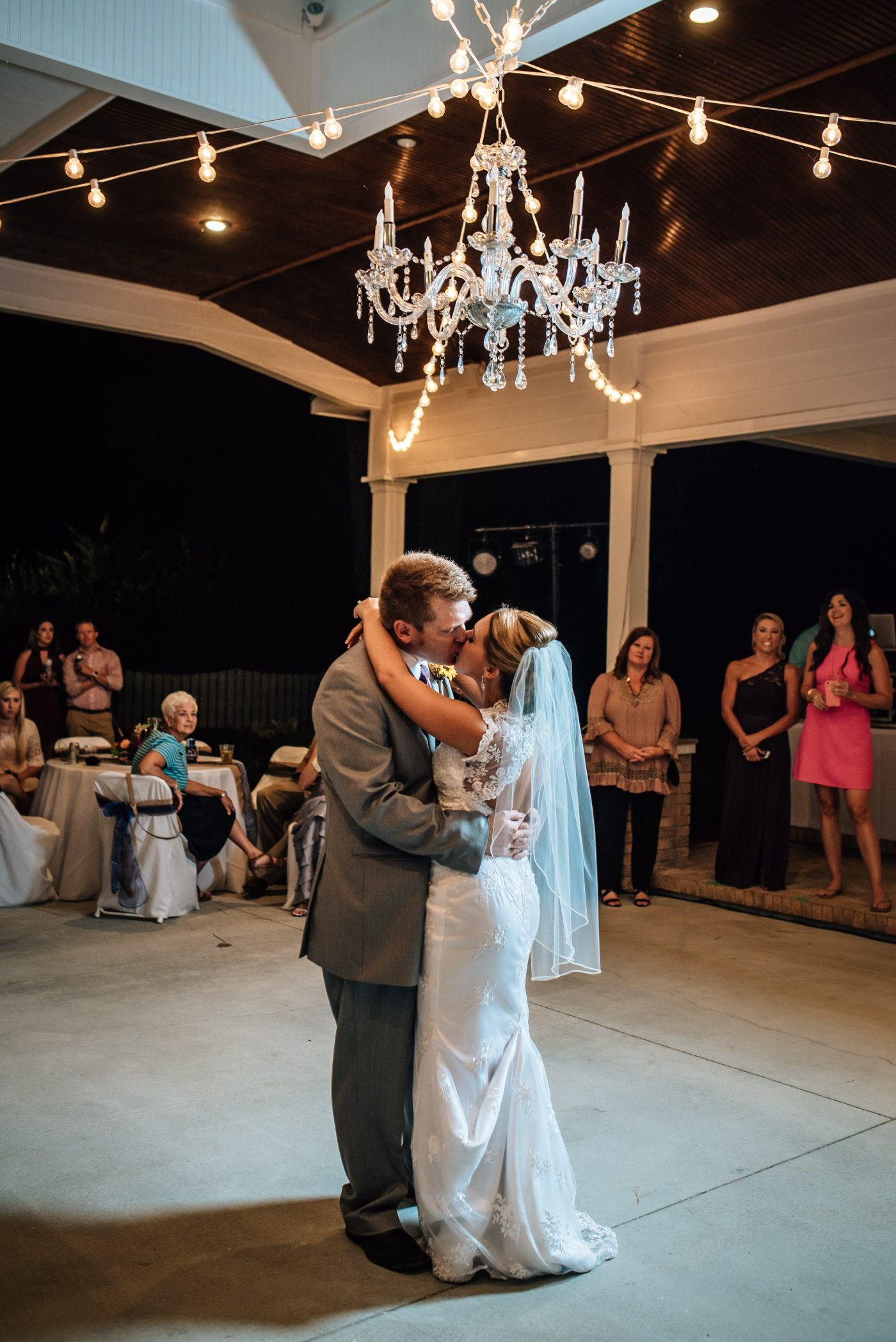 First dance-beautiful bride and handsome groom