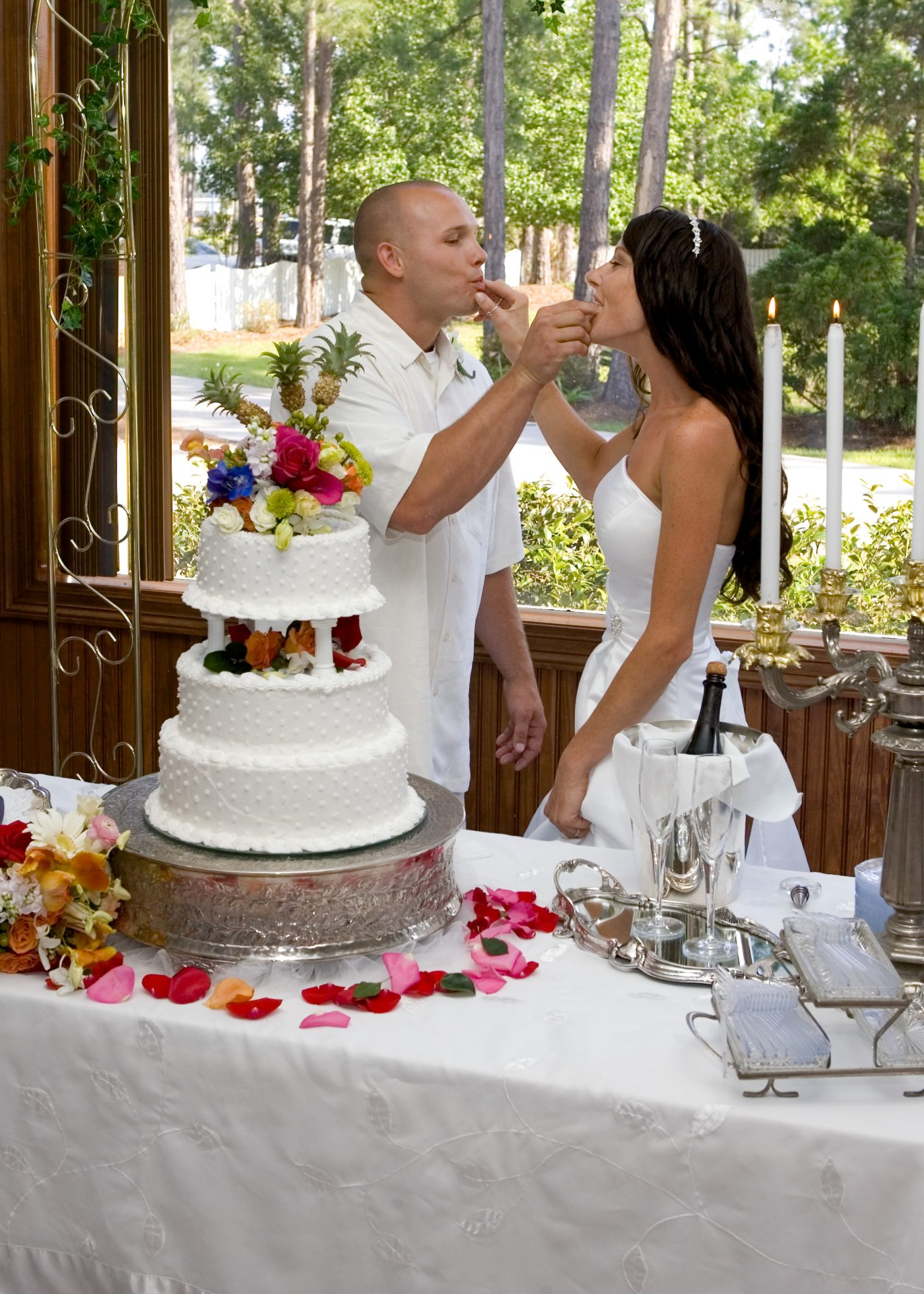 Cutting Wedding Cake