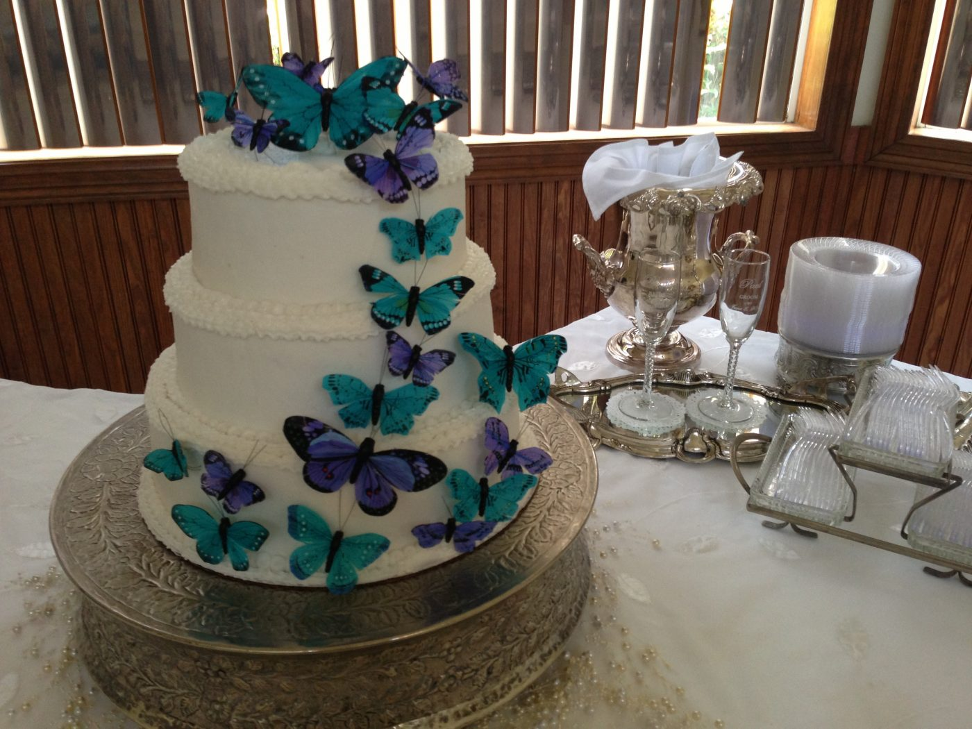 Wedding Cake at Gulf Shores Wedding Chapel