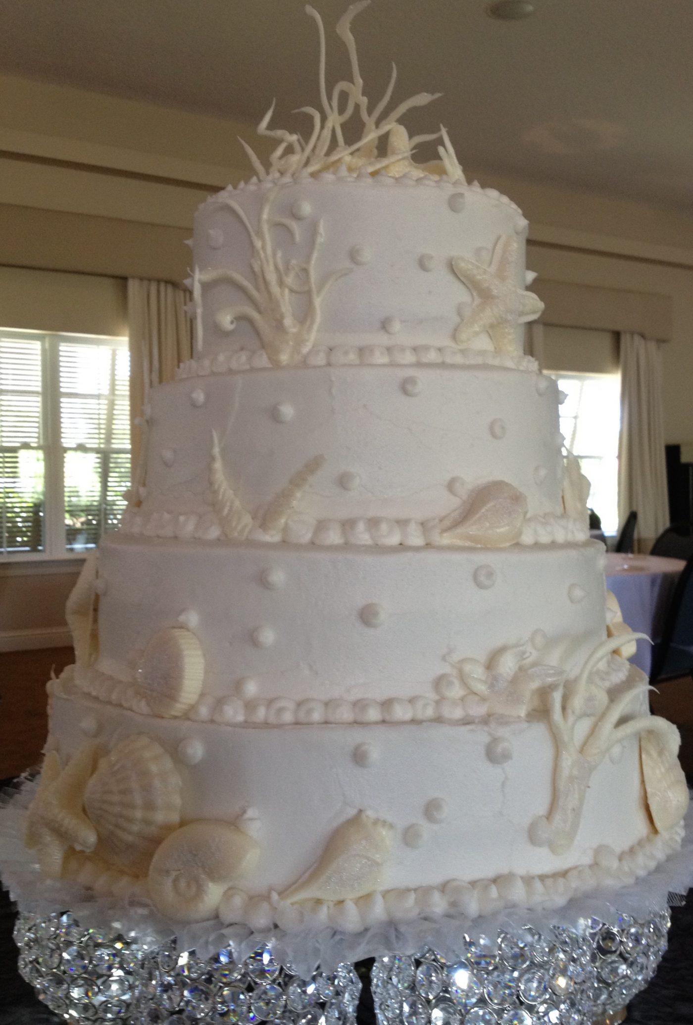 Wedding Cake Beach Theme