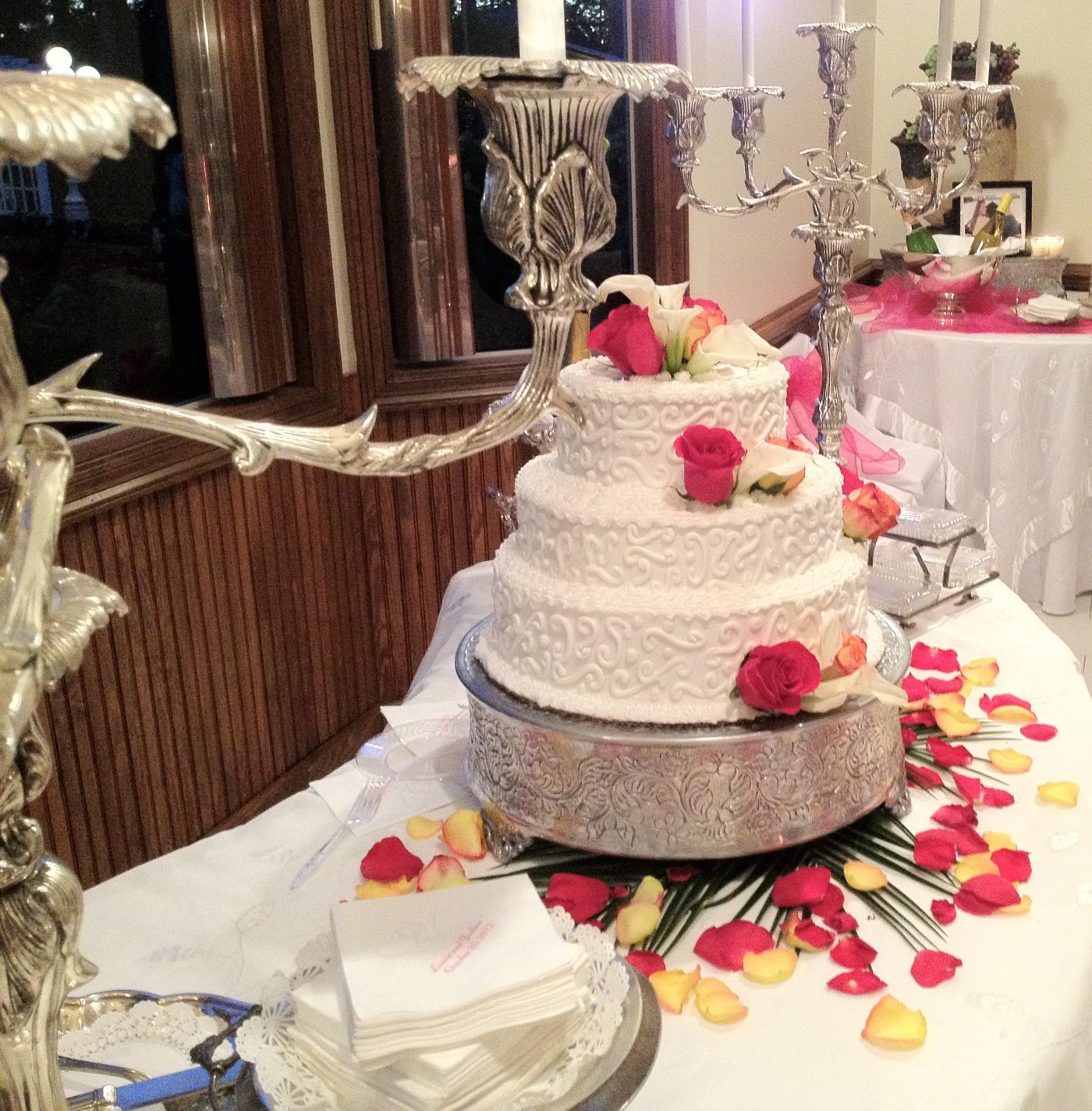 Bride's Cake at Gulf Shores Wedding Chapel