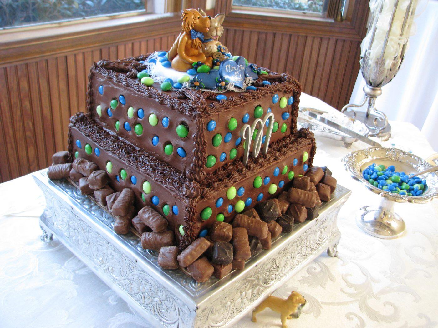 Custom Groom's Cake At Reception